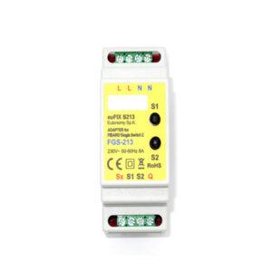 Eutonomy EuFIX S213 adaptador DIN para FIBARO Single Switch