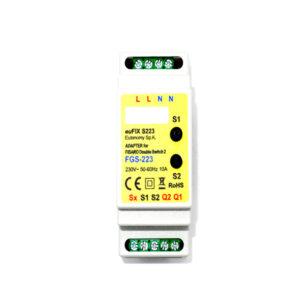 Eutonomy EuFIX S223 adaptador DIN para Fibaro Single Switch